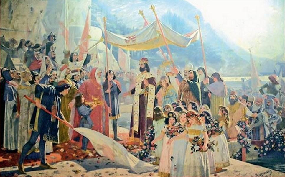 Марко Мурат (1864-1944): Улазак Цара Душана у Дубровник, 1900.