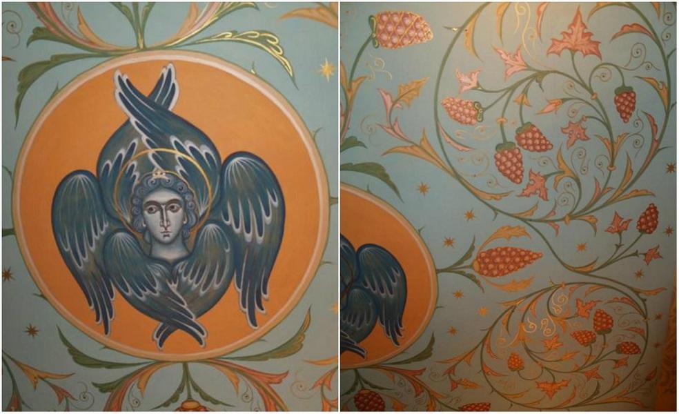 Фрагменти живописа таванице у храму свт. Луке Кримског (Доњецк)