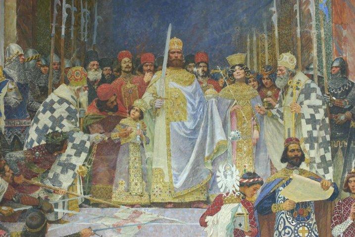 Паја Јовановић: КРУНИСАЊЕ ЦАРА ДУШАНА